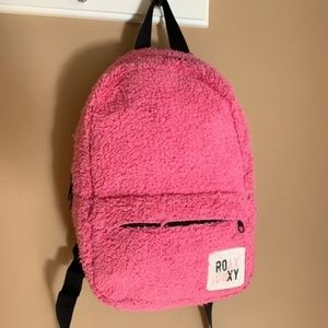 Roxy Girl Fuzzy Pink Mini Backpack Small Bag